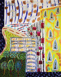 Mixed media on canvas, 100x80cm, 2014